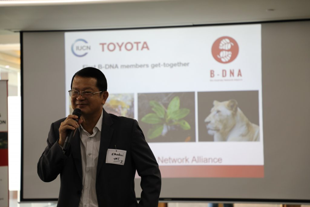 Mr Ekachai Chaisiriphan, Senior Vice President, Toyota Motor Thailand, opens the get-together